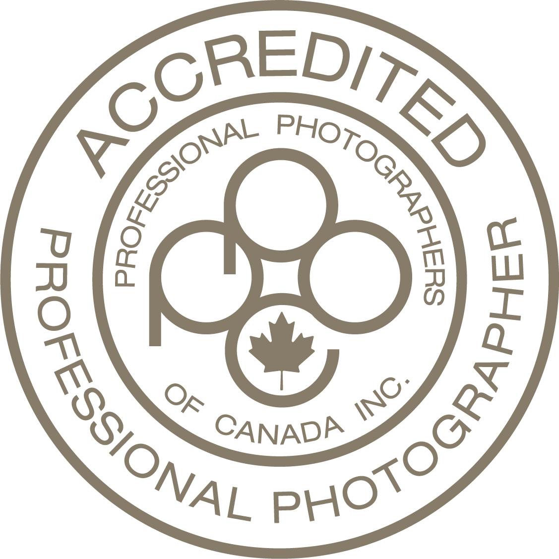 Accredited Professional Photographer, Proud Member, Professional Photographers of Canada